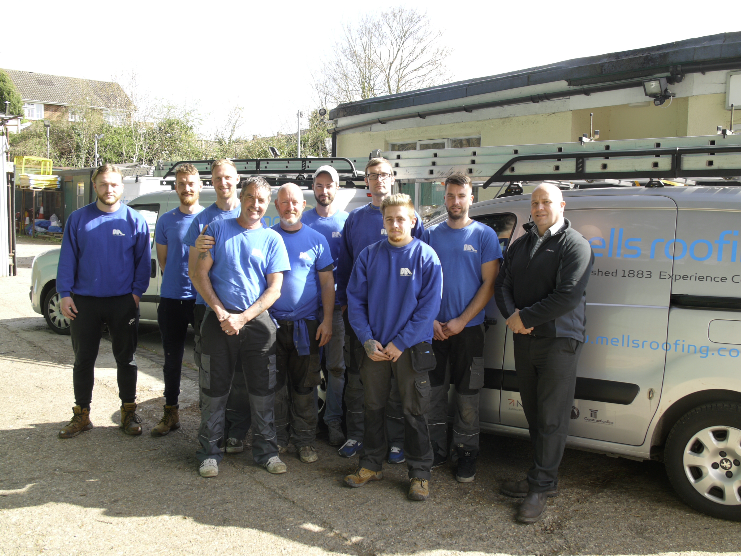 Mells Roofing team
